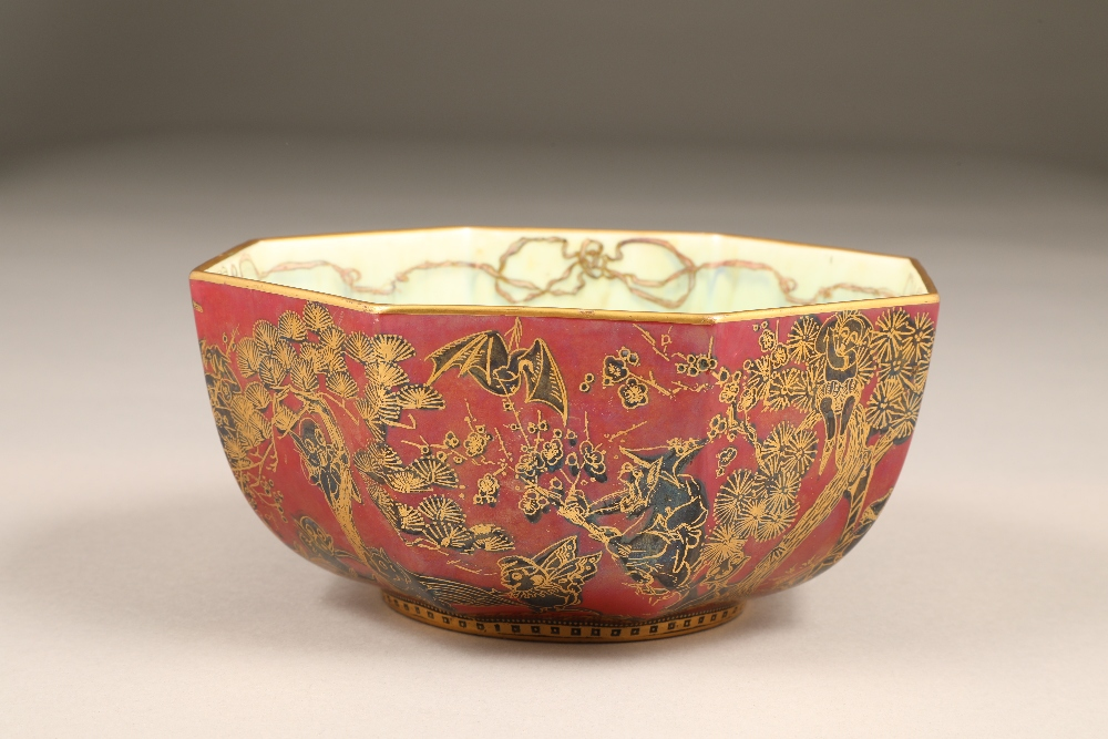 Wedgwood fairyland lustre bowl, by Daisy Makeig-Jones, octagonal form, decorated in the Firbolgs - Image 5 of 15