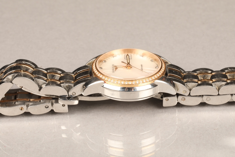 Ladies Longines Saint-Imier Collection automatic stainless steel bracelet watch, mother of pearl - Image 5 of 6