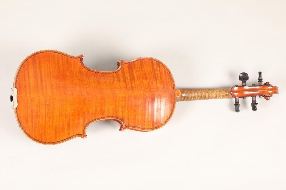 Violin by Jean Baptiste Collin Mezin, dated 1887. Interior label CH J B Collin-Mezin, Luther A - Image 3 of 14
