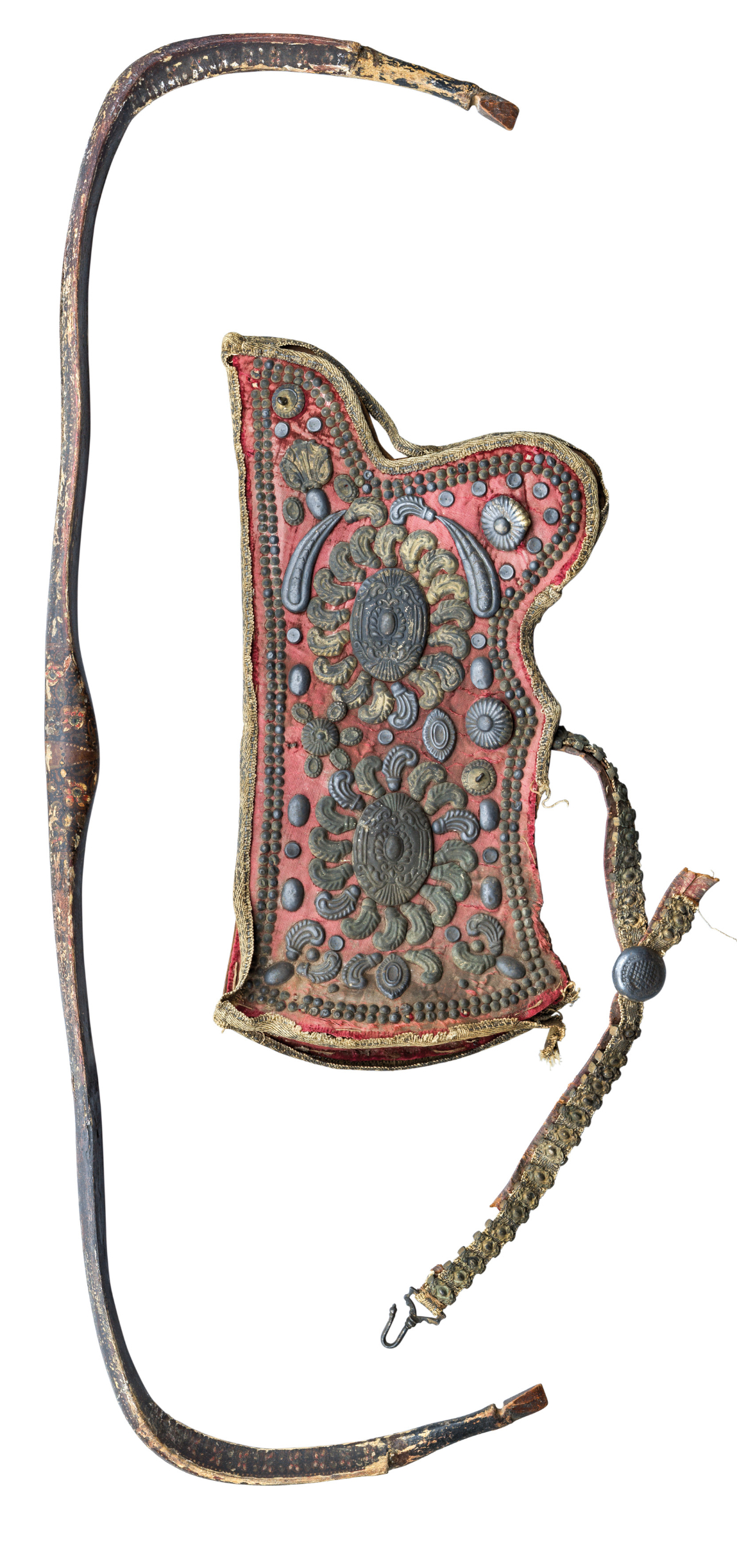 Ⓦ A RARE OTTOMAN QUIVER AND BOW^ EARLY 18TH CENTURY