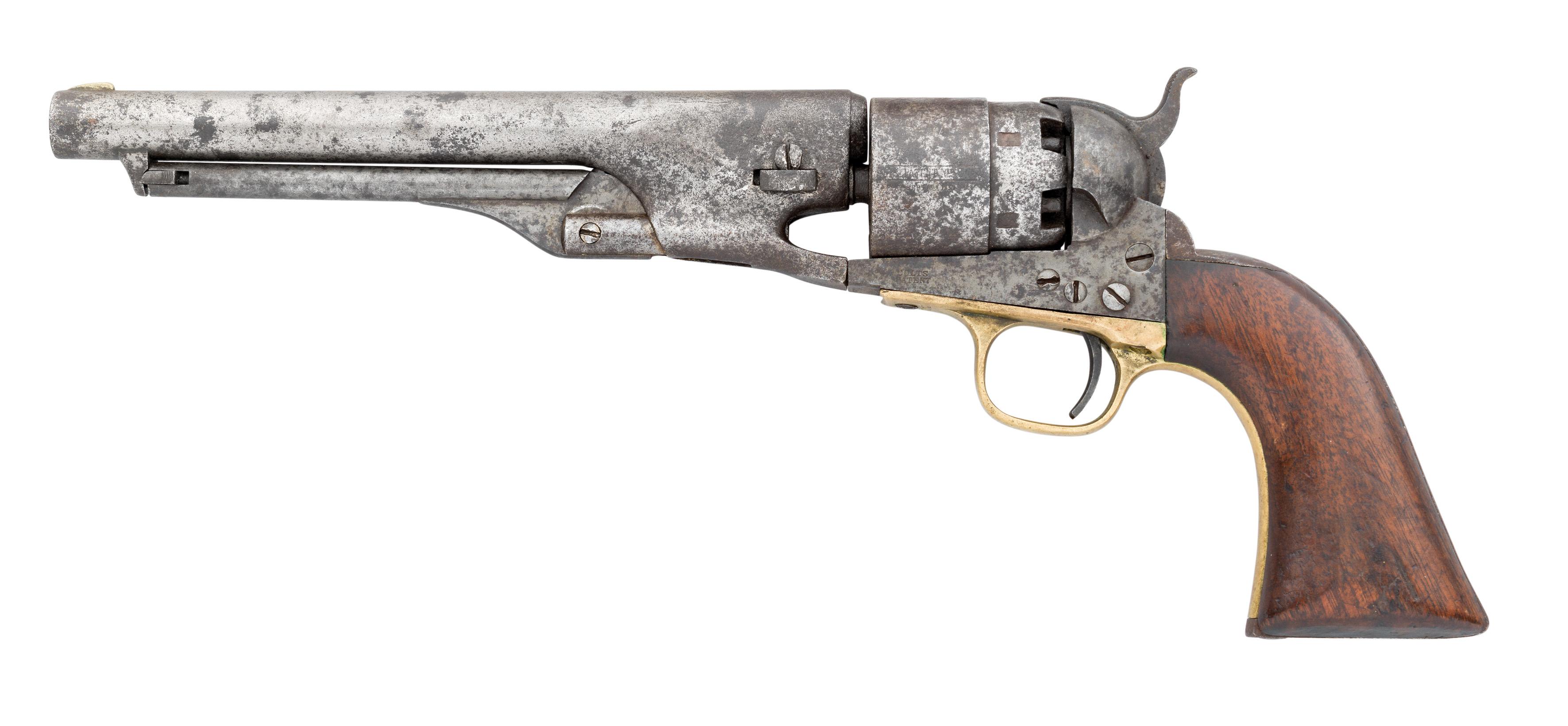 Ⓦ A .44 CALIBRE COLT MODEL 1860 SIX-SHOT PERCUSSION ARMY REVOLVER^ NO. 25799 FOR 1862