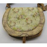 A DECORATED HUNTING BAG^ LATE 19TH CENTURY^ POSSIBLY GERMAN