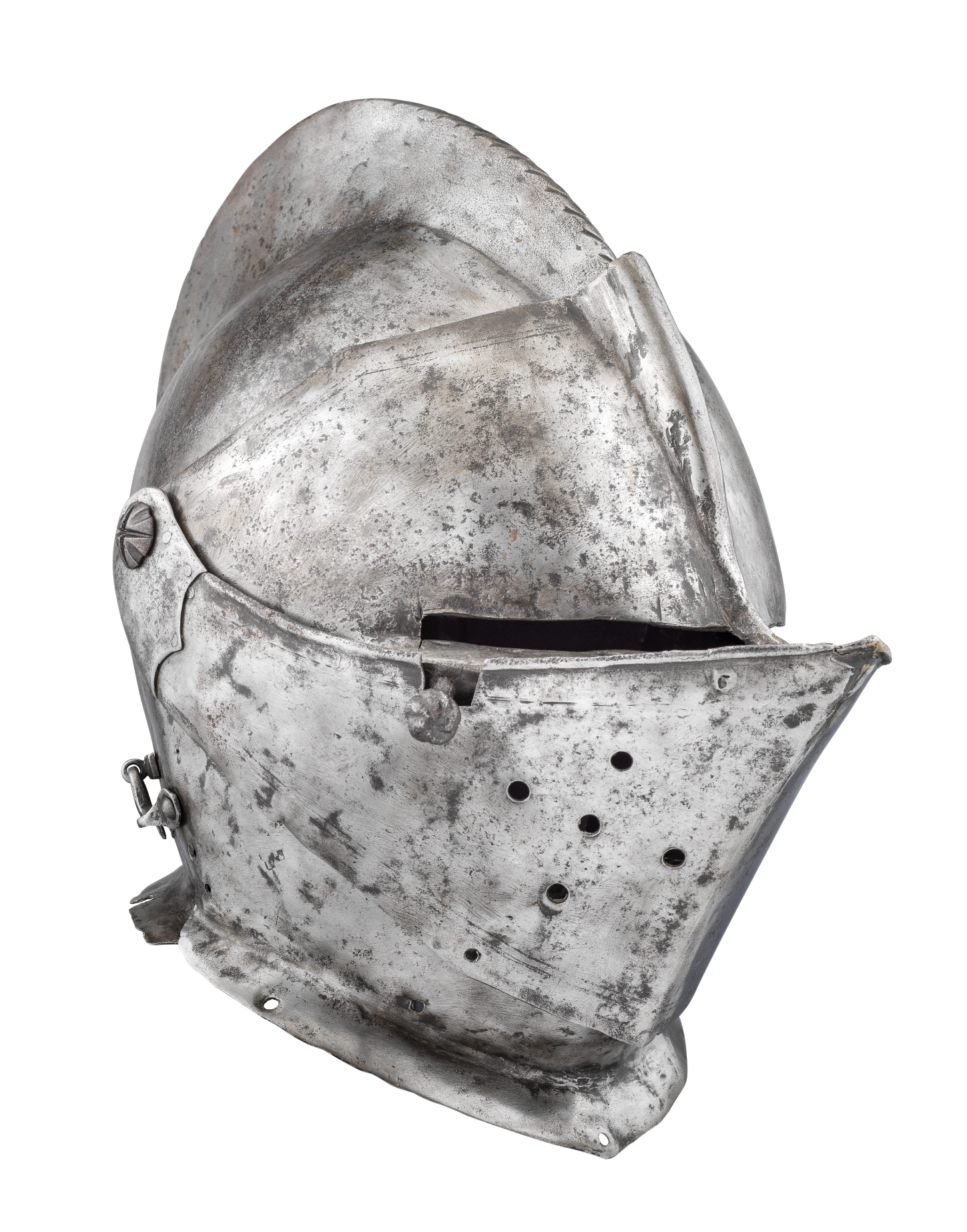 ‡ A COMPOSITE CLOSE HELMET FOR FIELD USE^ LATE 16TH CENTURY