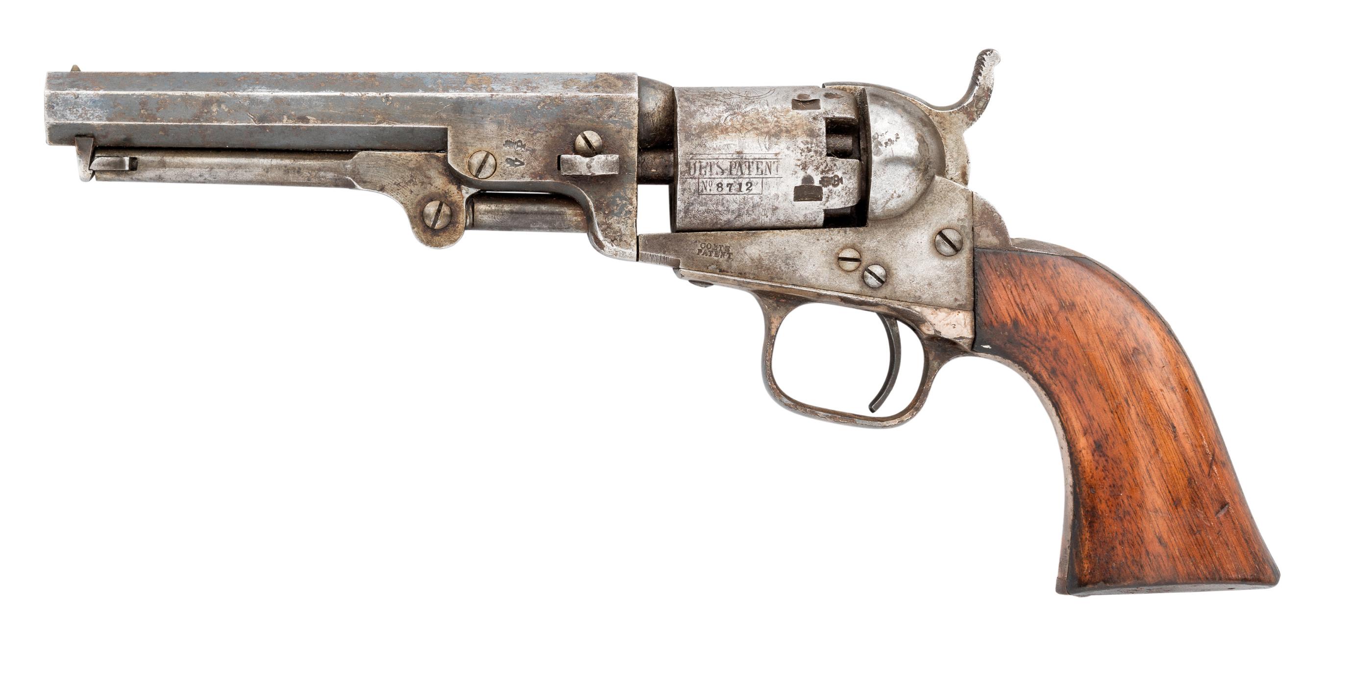 Ⓦ A .31 CALIBRE COLT MODEL 1849 LONDON FIVE-SHOT PERCUSSION POCKET REVOLVER^ NO. 8712 FOR 1855