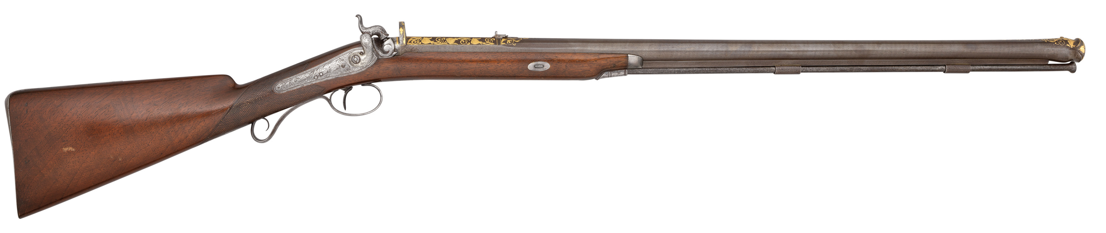 ‡Ⓦ A FINE .600 CALIBRE PERCUSSION SPORTING RIFLE MADE FOR CHARLES JOHN BRANDLING WITH FINE 18TH