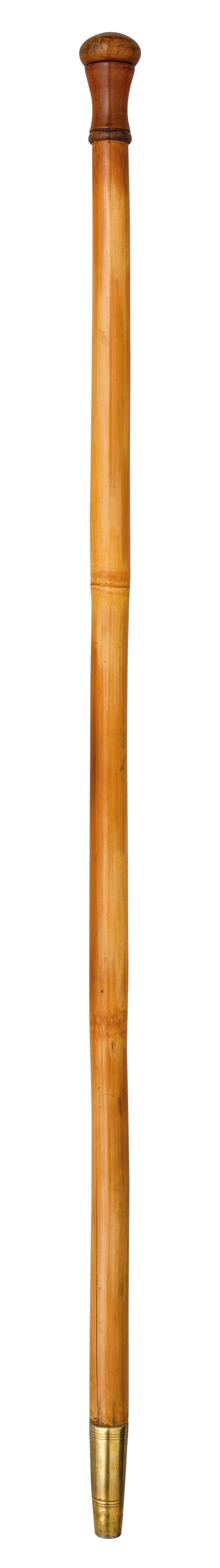 Ⓦ A VICTORIAN WALKING STICK BLOW TUBE^ LAST QUARTER OF THE 19TH CENTURY