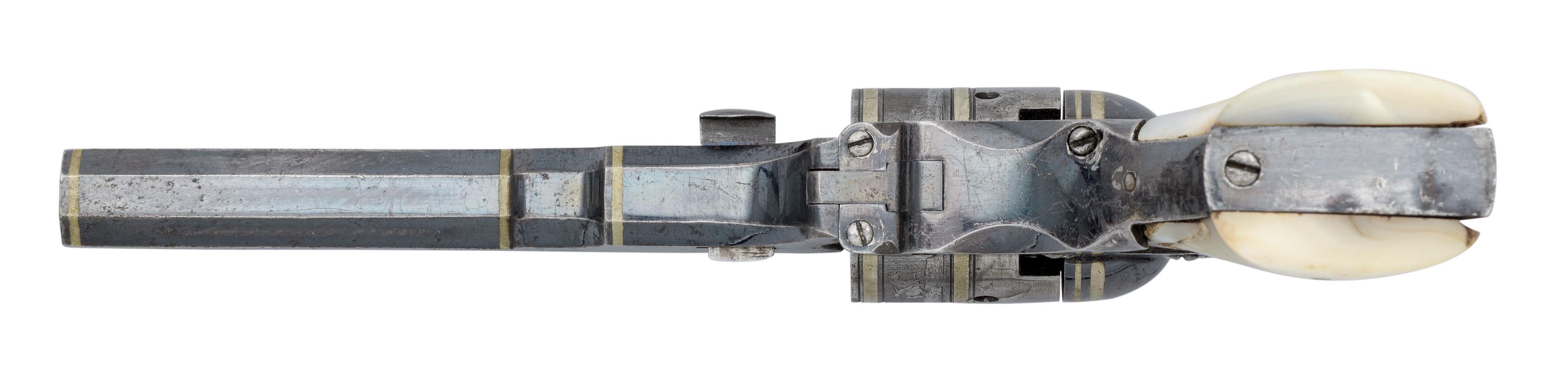 Ⓦ AN EXTREMELY RARE .31 CALIBRE PERCUSSION COLT PATERSON NO. 2 MODEL POCKET REVOLVER^ NO. 570^ CI - Image 4 of 6