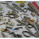 Ⓦ A LARGE COLLECTION OF GUN AND PISTOL PARTS^ 18TH AND 19TH CENTURIES