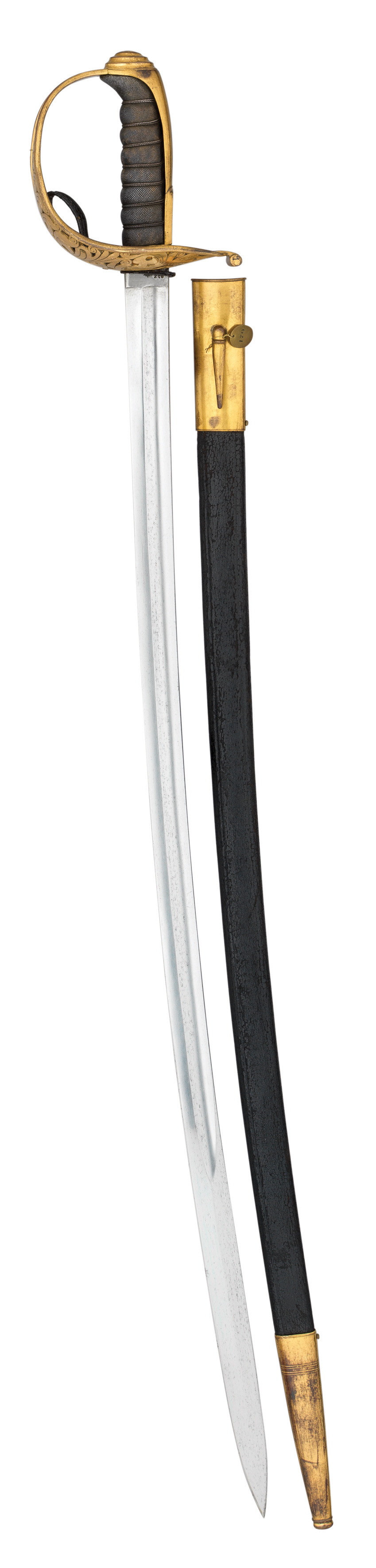 ‡ A GILT AUSTRIAN MODEL 1869 CAVALRY OFFICER'S SWORD^ CIRCA 1870