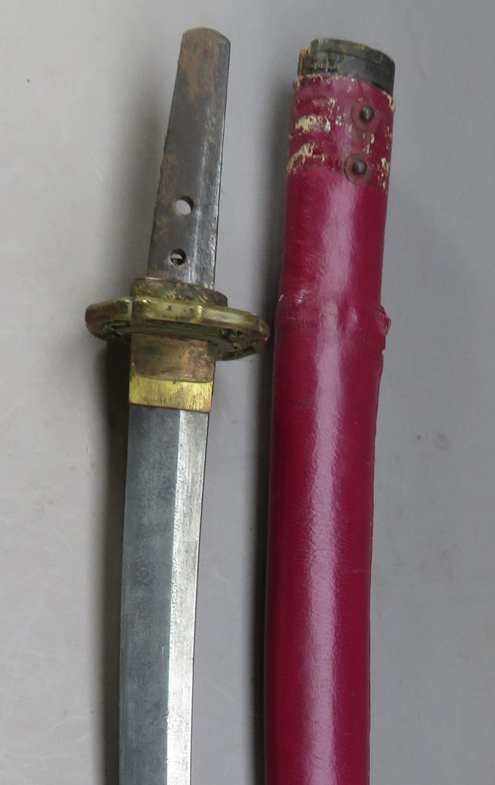 Ⓦ A JAPANESE SHORTSWORD (WAKIZASHI)