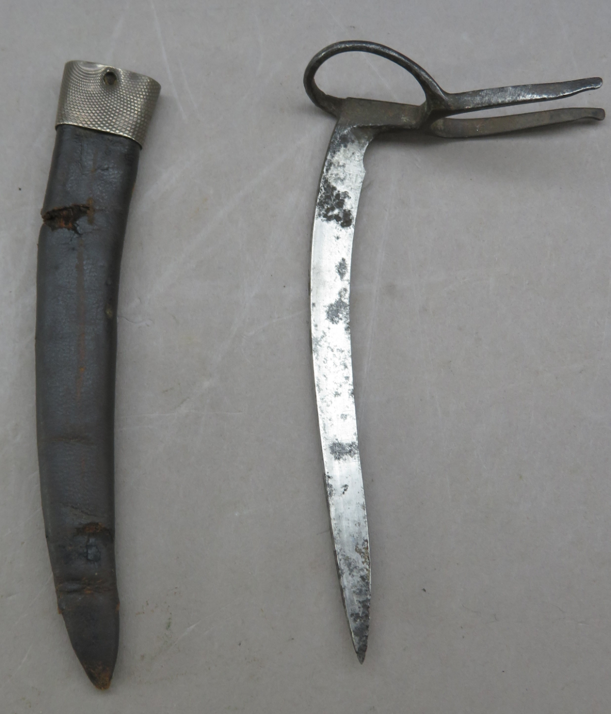 Ⓐ A COCK FIGHTING SPUR^ LATE 19TH CENTURY