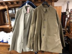 Two gent's light weight jackets.