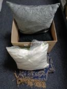 A box of new cushions,