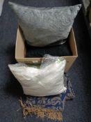 A box of new cushions,