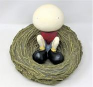 Mackenzie Thorpe : New Child, a resin sculpture, 2004, from the limited edition of 395,
