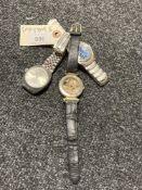 A Sekonda gent's 25-Jewel automatic day/date wristwatch, on stainless steel bracelet strap,