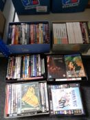 A large quantity of DVDs.