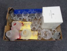 A box of crystal and glass,