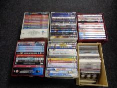 A large quantity of DVDs and box sets.