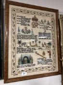 A George VI tapestry sampler, dated May 12 1937.
