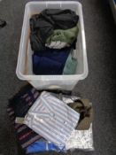 A quantity of new and un-used clothing including shirts,