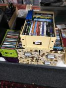 A large quantity of CDs, DVDs and box sets.