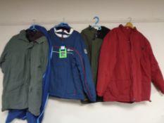 Four gent's coats,