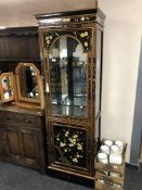A Japanese style lacquered display cabinet CONDITION REPORT: 61cm wide by 40cm deep