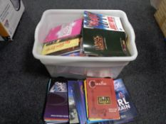 A box of theatre programmes from around the UK