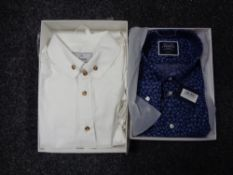A Charles Tyrwhitt classic fit gent's shirt and a Vivienne Westwood shirt.