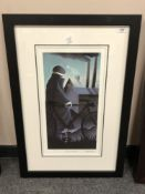 Mackenzie Thorpe : Full Moon, photo lithograph in colours, numbered 104/550, signed in pencil,