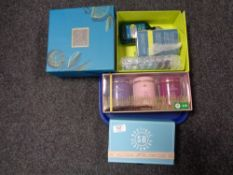 Three boxed gift sets to include Chey & Blue scent,