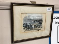 Antoni Sulek : Open Landscape with Distant Castle, watercolour and bodycolour, signed,