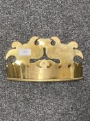 A George III brass wall pocket CONDITION REPORT: 14cm high, 25cm wide and 7cm deep.