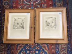 Sue Willis : Study of a Teddy Bear Wearing a Bow-Tie, sepia-style print, numbered 731/850,