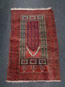 An Afghan prayer rug,