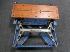 A folding work bench