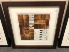 Orla May (Irish Contemporary) : Abstract Study in Brown and White, acrylic/mixed media, signed,