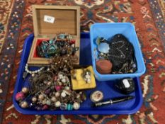 A large quantity of costume jewellery,