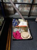 Two boxes of curtain poles,