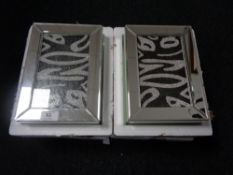 Two decorative mirrored jewellery caskets.