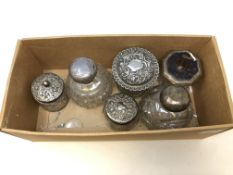 Assorted silver including heavy lidded jar etc.
