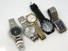 A collection of various wrist watches.