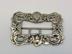 A good quality Victorian silver buckle, Chester 1896.