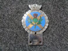 A vintage motor car badge - J.R.