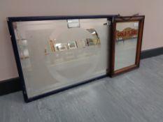 "A Twentieth Century Advertising Mirror - ""WILL'S GOLD FLAKE CIGARETTES"", 34 cm X 24 cm,"