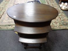 A nest of oak Old Charm tables