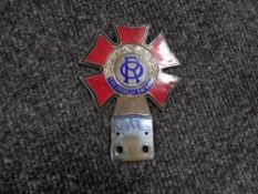 A vintage motor car badge - The Order of the road