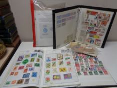 A quantity of stamps in albums,