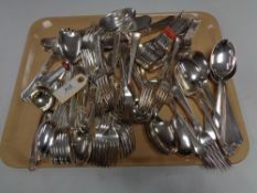 A large quantity of silver plated cutlery, all by Walker & Hall, pattern various.